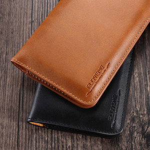 Image 5 - Floveme 5.5 Inch Portemonnee Tas Case Voor Samsung S8 S9 S7 S6 Rand Cover Classic Leather Pouch Voor Iphone X 8 6 S 7 Plus 5 5S Se Case
