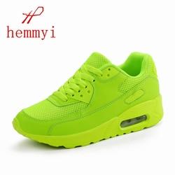 Hemmyi 2018 Women Sneakers Summer Breathable Mesh Brand Shoes for Woman Black Green Red Tenis Feminino Ladies Shoe Basket Femme