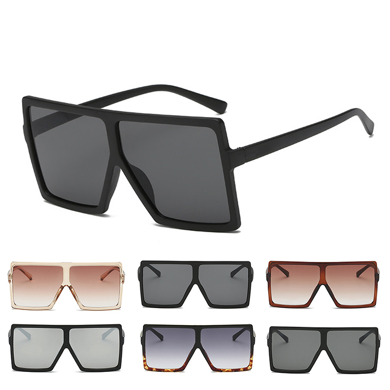 a0b593f685f Aliexpress.com   Buy OUTEYE Oversize Square Sunglasses Men Women Cool Big  Flat Top Sunglass Fashion Vintage Unisex Sun Glasses 7 Colors UV400 Eyewear  from ...