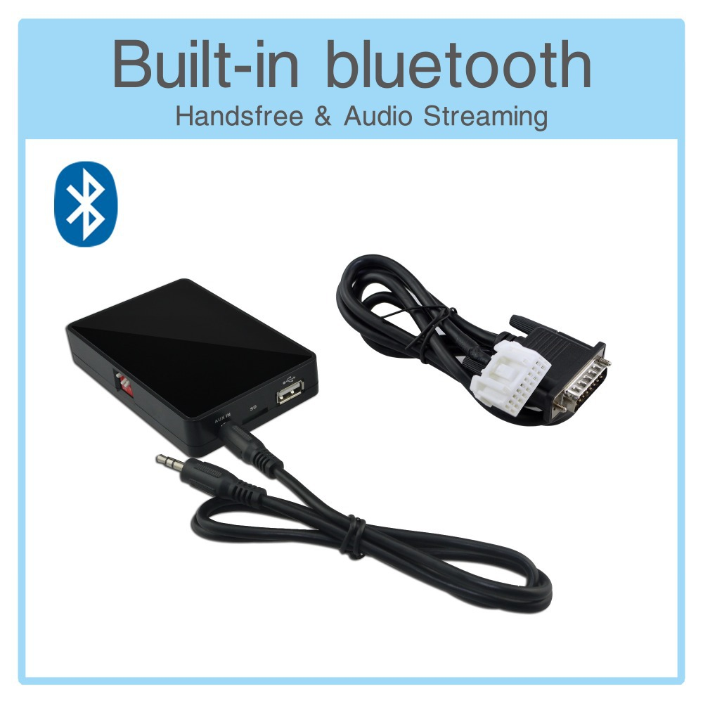 Adapter Usb Sd Aux Mit Bluetooth: USB AUX SD Card Adapter Bluetooth Interface MP3 Player