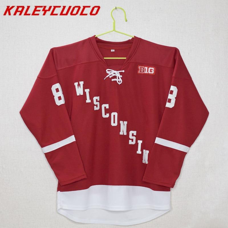 Wisconsin Madison #8 Joe Pavelski Stitched Hockey Jersey 2xs-6xlWisconsin Madison #8 Joe Pavelski Stitched Hockey Jersey 2xs-6xl