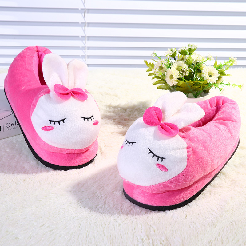 2016 New Arrival Cartoon Women Winter House Slippers Cute Soft Plush Warm Cotton Indoor/Floor/Home Funny Slippers Shoes GI-88