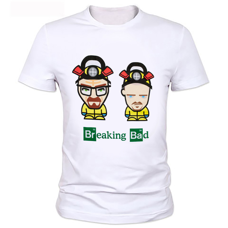 Funny Chinese breaking bad printing T-shirt style of breaking bad men's T-shirt Men's clothing personality 119#