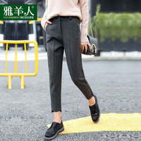 Fashion Women Woolen Thick Harem Pants 2018 Autumn Winter New Arrival Hot Female Loose Casual Warm Classic Pants Trousers