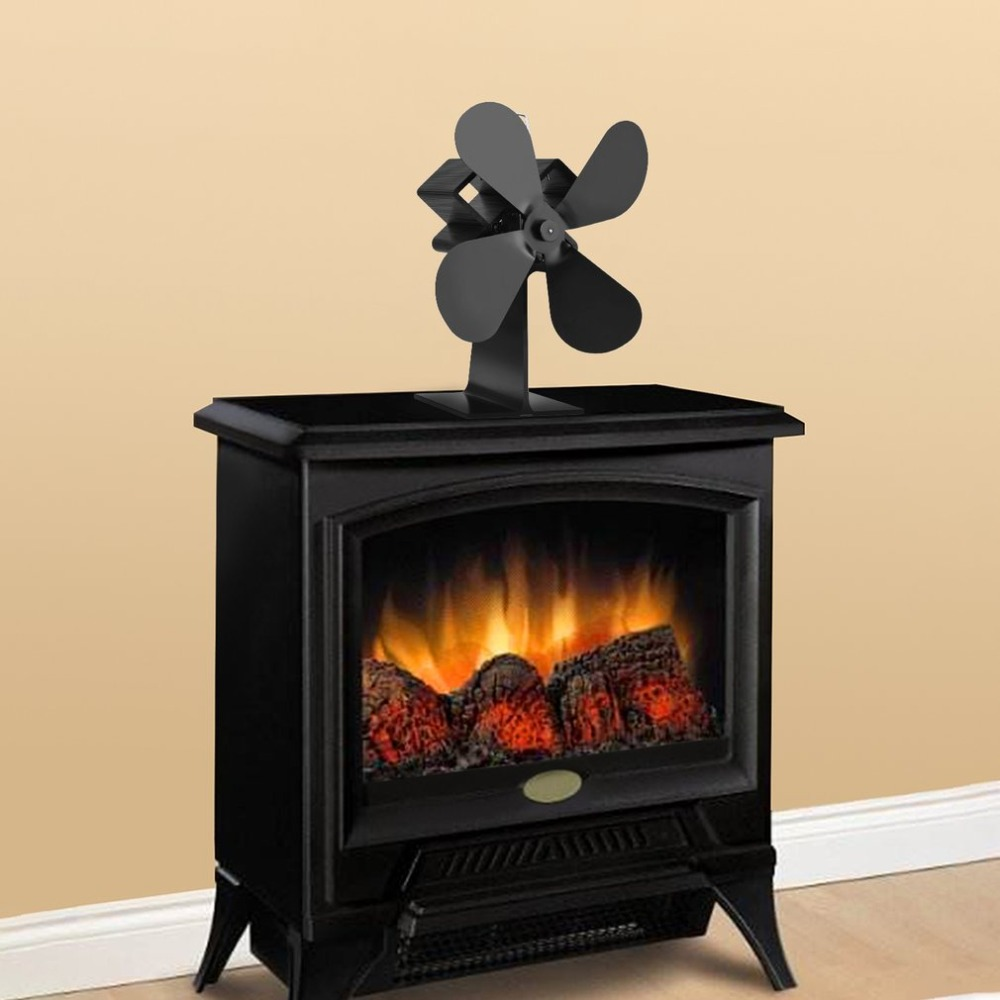 Best Price 4 Blades Heat Powered Stove Fan Log Wood Burner Quiet