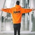 Orange propósito toure personal con capucha sudaderas con capucha con forro polar mujeres de los hombres de justin bieber streetwear