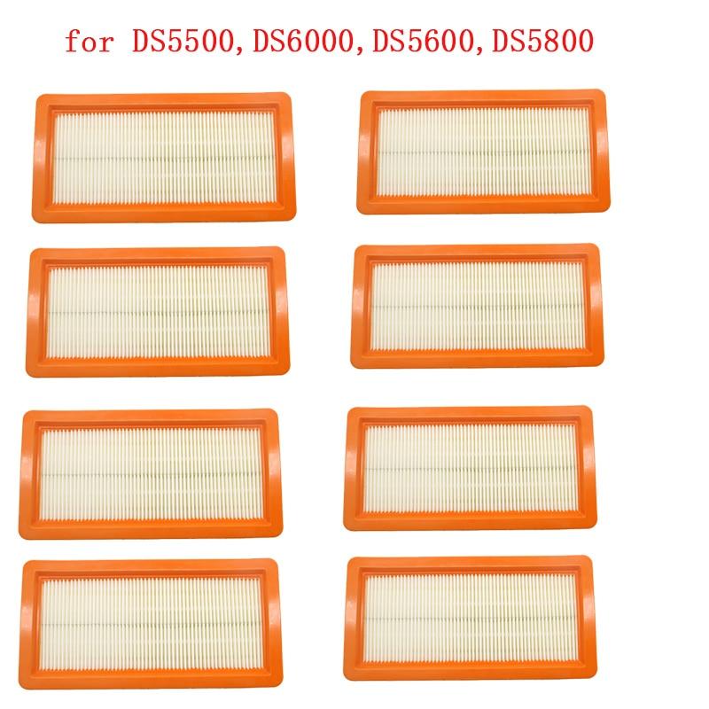 8 Pcs Karcher Filter For DS5500,DS6000,DS5600,DS5800 Robot Vacuum Cleaner Parts Karcher 6.414-631.0 Hepa Filters Washable Filter