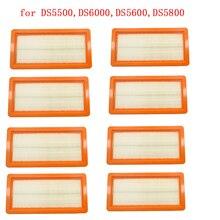8 יחידות karcher מסנן עבור DS5500, DS6000, DS5600, DS5800 רובוט שואב אבק חלקי Karcher 6.414 631.0 hepa מסנני רחיץ מסנן