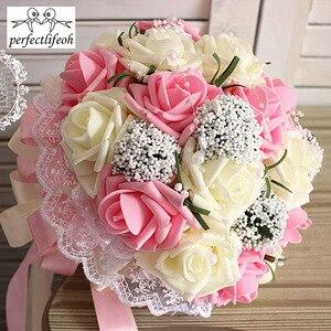 Image 4 - Ручной Букет невесты perfectlifeoh, свадебный букет ручной работы, имитация цветов, шарики, свадебные цветы для фотографии