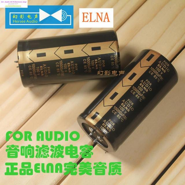 Supercapacitor Electrolytic Capacitor 4pcs/10pcs Elna La5 for LAO audio 100v 10000uf Hifi For Filter Amplifier Free Shippping