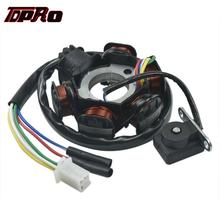 TDPRO 6 Coils Magneto Stator Wire Coil Pad For GY6 50cc 70cc 110cc 125cc 150cc Moped Scooter PIT Quad Dirt Bike ATV Buggy Gokart tdpro 12v starter motor relay solenoid motorcycle moped for gy6 90cc 110cc 125cc 250cc atv go kart buggy dirt pit bike scooter