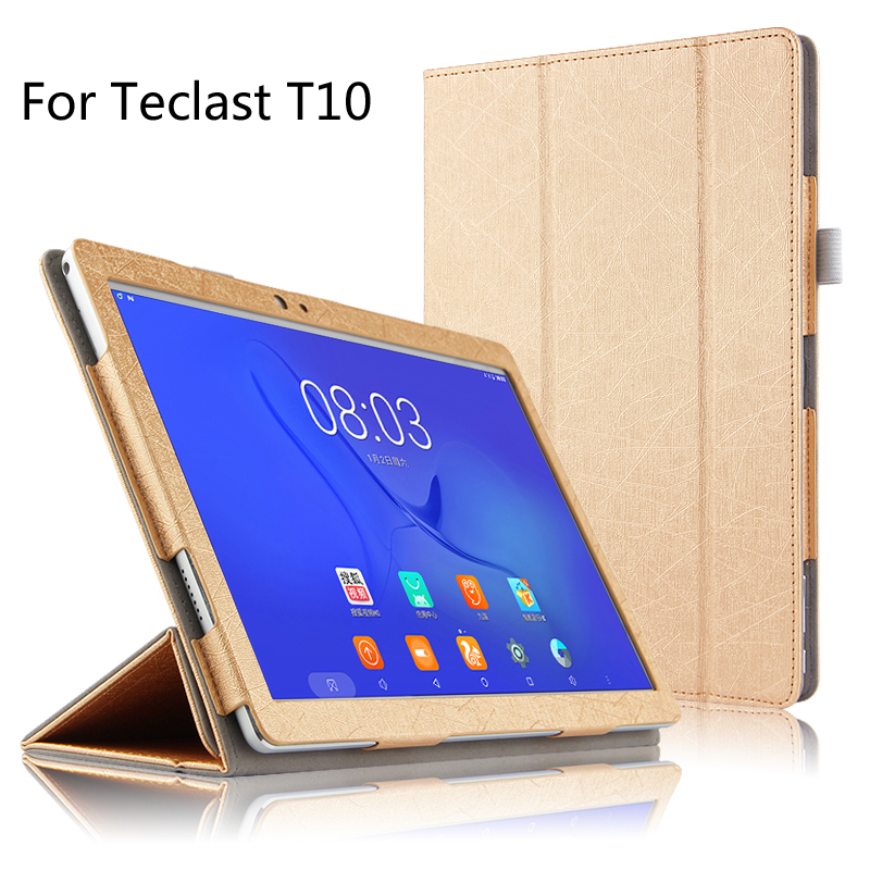 For Teclast T10 10.1 inch Tablet Ultra Slim Mangetic Closure Flip Stand PU Leather Cover Case + Stylus ultra thin smart flip pu leather cover for lenovo tab 2 a10 30 70f x30f x30m 10 1 tablet case screen protector stylus pen