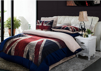 Home Textile China American British Flag Design Bedding Set Cartoon Style Bedding Beds pread Bed Linen Kids Bedding Set