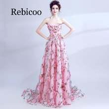 Платье топ rebicoo банкетное кружевное с аппликацией в виде