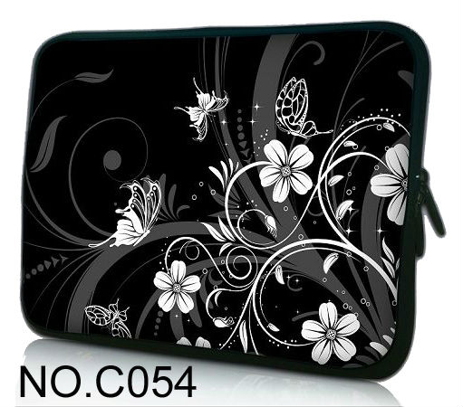 Black White Flowers Butterfly 13 Universal Laptop Sleeve Case Bag Cover For 13 3 Apple MacBook