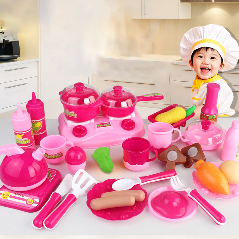 30pcs cutting fruit baby kitchen set toy 1 8 kids diy for Kitchen set games