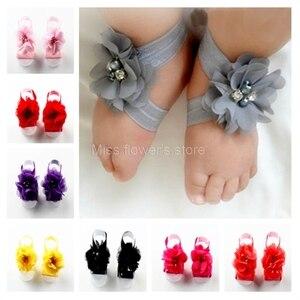 1 пара детских босоножек со стразами на запястье с цветочным узором для маленьких девочек; обувь; аксессуары для фотосессии