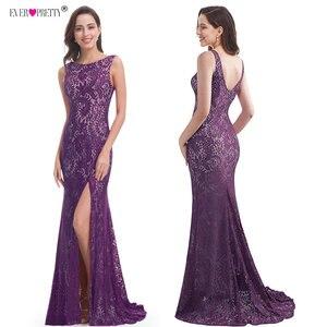 Image 2 - Mermaid akşam elbise hiç güzel EP08859 2020 uzun seksi kolsuz bölünmüş resmi ünlü dantel gece elbisesi elbiseler robe longue