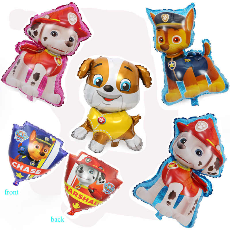 1pcs Paw Patrol Balloon Party Room Dcorations Figure Foil Balloons Chase Marshall Ryder Paw Patrol Dog Ballon Birthday Gift