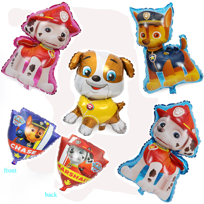 1pcs Paw Patrol Balloon Party Room Dcorations Figure Foil Balloons Chase Marshall Ryder Paw Patrol Dog Balloon Birthday Decro