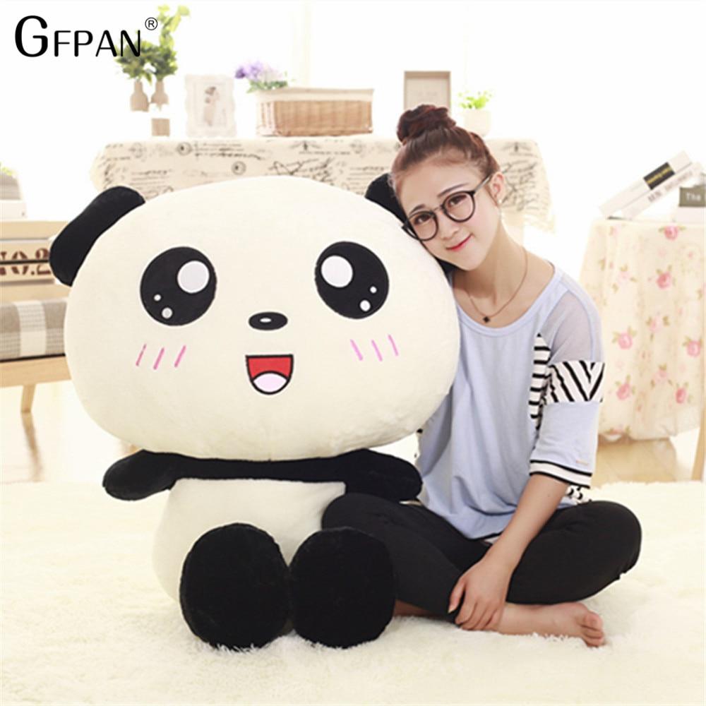 70/90 см Kawaii большая голова панда плюшевые игрушки мягкие набивные животные подушка милый медведь подарок для детей малышей девочек подарок н...