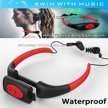 8 GB Reproductor de Música MP3 Impermeable Subacuático Swim Spa Surf Buceo Surf Buceo Deportes Neckband Auricular Estéreo de Manos Libres FM Radio