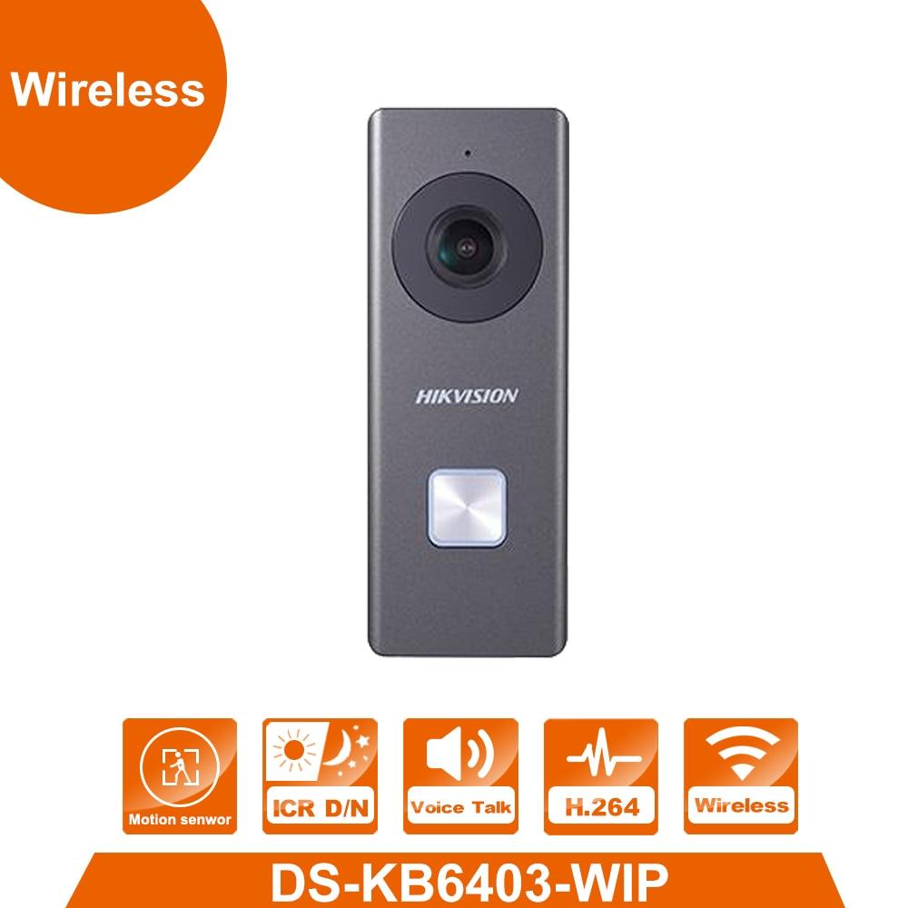 WiFi Vidéo Sonnette DS-KB6403-WIP Intégré Omnidirectionnel Microphone et Haut-Parleur 2MP 12 V Puissance Remplacer DS-KB6003-WIP