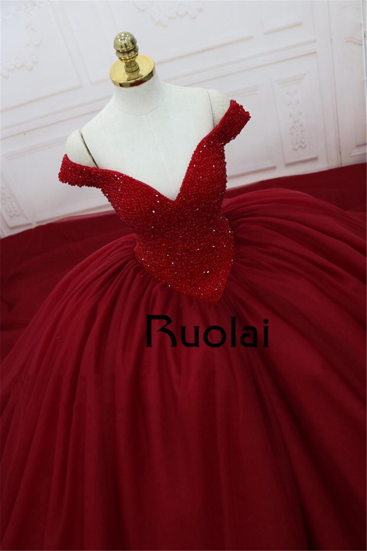 Gorgeous Ρεάλ φωτογραφία κόκκινο φόρεμα - Ειδικές φορέματα περίπτωσης - Φωτογραφία 5