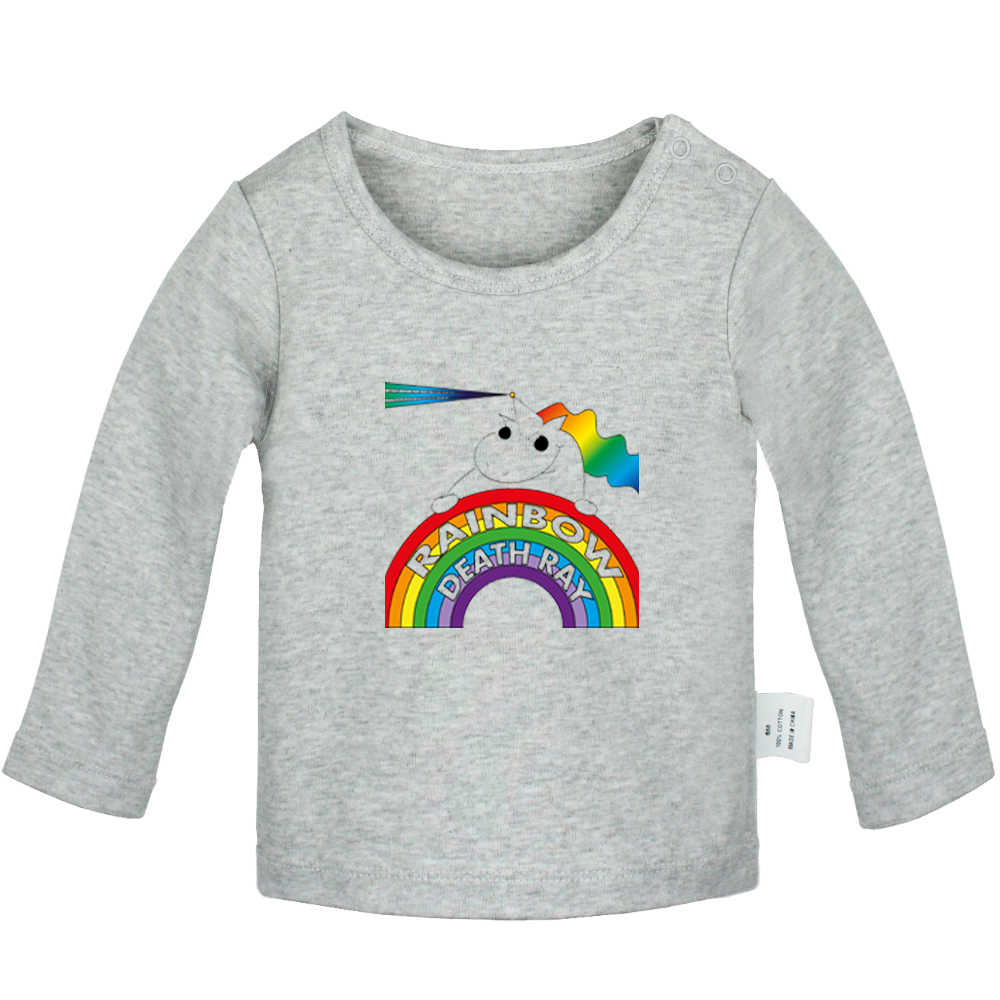 Aye She's Mine เรขาคณิต FIG แฟชั่น rainbow Alien ทารกแรกเกิดเสื้อยืดเด็กวัยหัดเดินกราฟิกสีทึบแขนยาว Tee เสื้อ