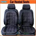 2 pcs/par inverno carro assentos de carro almofada de aquecimento elétrico almofada aquecida assento de carro cobre cinza