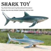New Shark Plush Toy Lifelike Shark Stuffed Plush Doll Pillows Soft Toys For Kids Children Birthday Gift стоимость