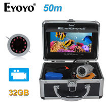 EYOYO Original 7″ 50M Fish Finder HD 1000TVL Underwater Fishing Camera Infrared Video Recording 32GB Silver Color