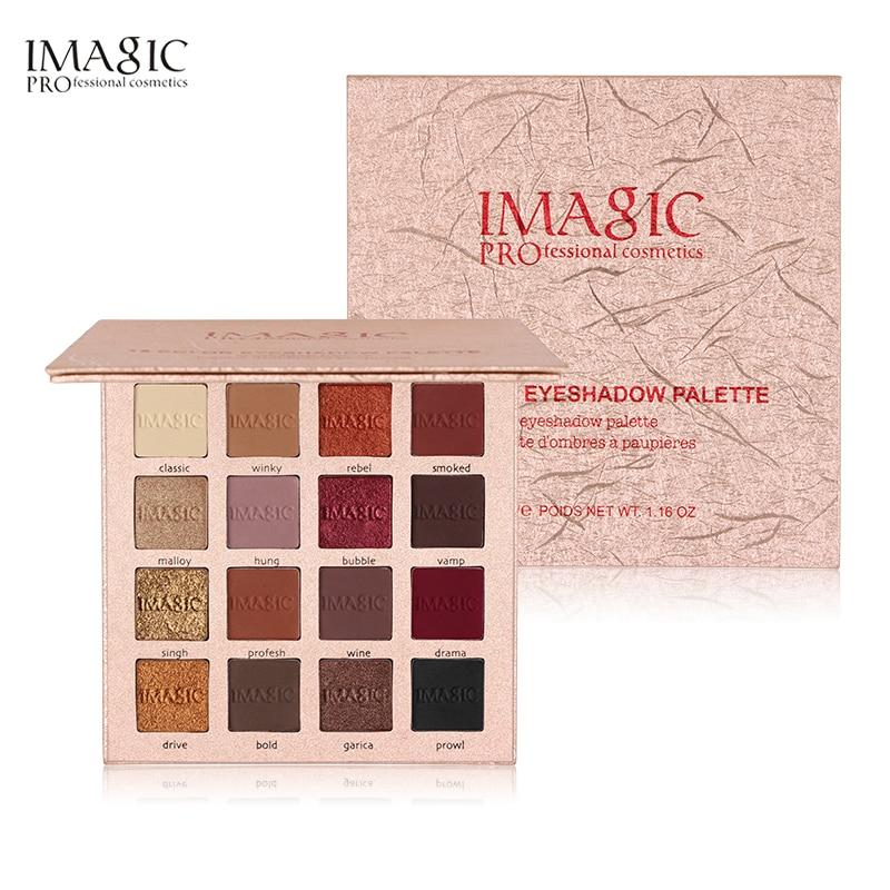 IMAGIC 16 Colors Palette Matte Eyeshadow New Shimmer Glitter Make Up Set Beauty