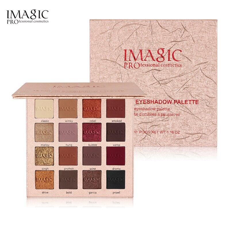 IMAGIC 16 Cores Paleta Fosco Sombra Novo Shimmer Paleta de Sombra Glitter Make Up Set Beleza