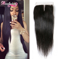 Peruvian Lace Closure Straight Peruvian Straight Hair Closure Middle Part Human Hair Closure Piece Straight Peruvian Virgin Hair