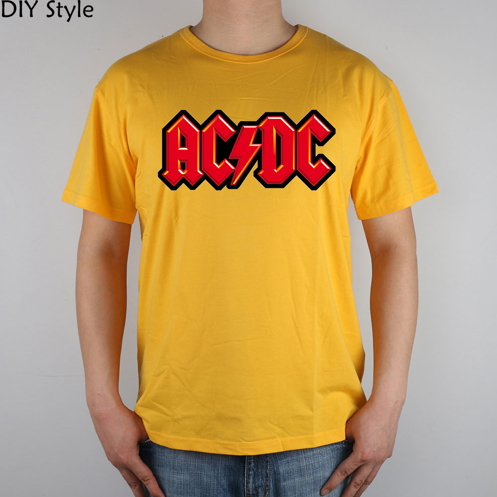 c9532fbef6df ACDC ROCK N ROLL AC DC red lightning T shirt cotton Lycra top-in T-Shirts  from Men's Clothing on Aliexpress.com | Alibaba Group