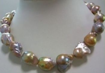 2016 huge Color AAA 15-24mm south sea baroque pearl necklace 18 INCH