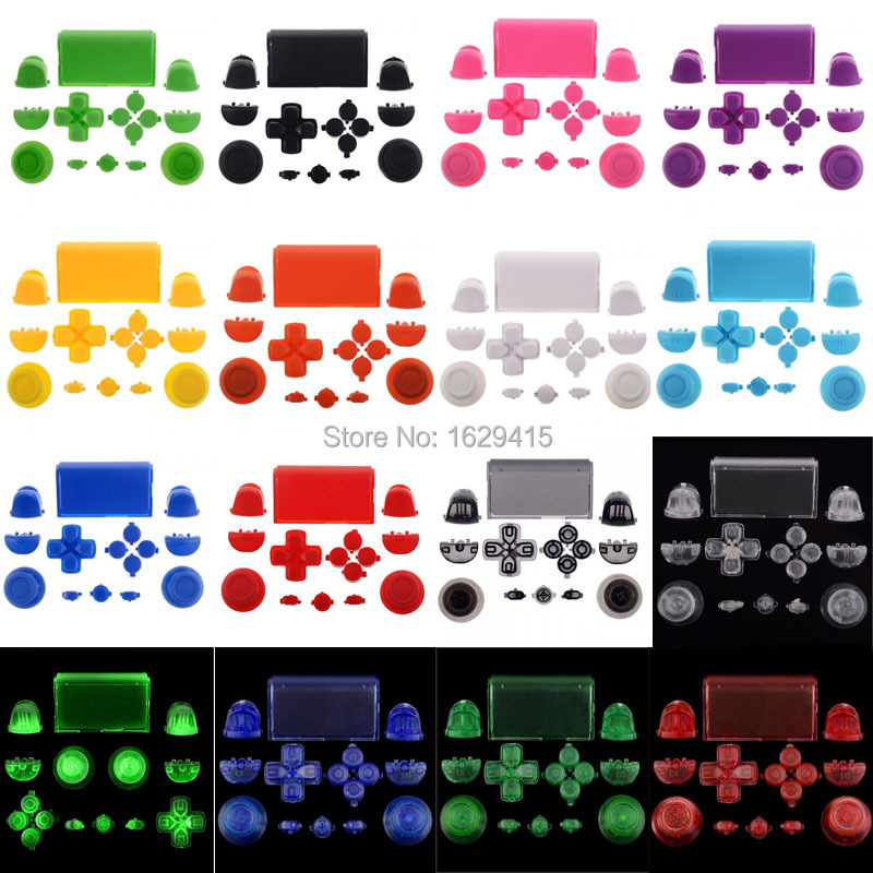 IVYUEEN Full Buttons Mod Kit For Sony PlayStation Dualshock 4 PS4 Controller R2 L2 R1 L1 Trigger Buttons Game Accessories