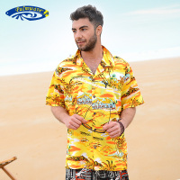 Hawaiian 2016 Summer Brand New Men Short Sleeve Casual Shirt Men S US Size Beach Hawaii