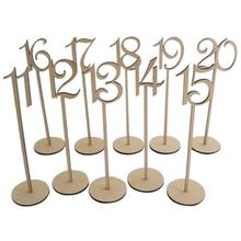 10pcs wooden table numbers rustic wedding table decoration wooden wedding table number holder