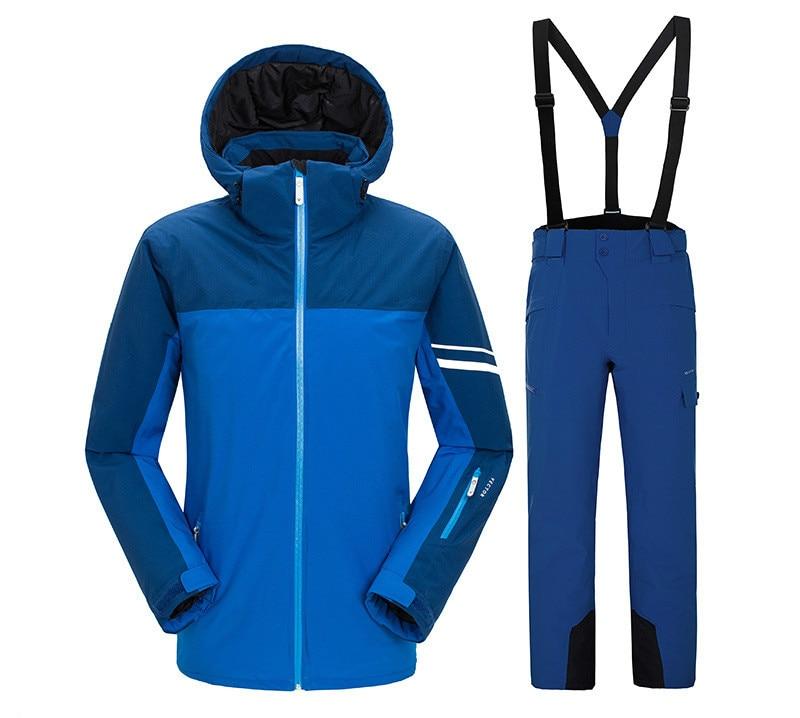 VECTOR costume de ski pour hommes en plein air chaud imperméable coupe-vent costume hommes snowsuit randonnée ski pantalon costume