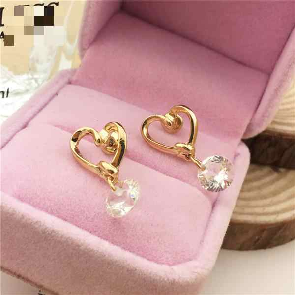 Hot Korean Fashion Jewelry Sweet Love Cz Zircon Earrings, Earrings For Women  Brincos  Stud Earrings  Boucle D'oreille Femme