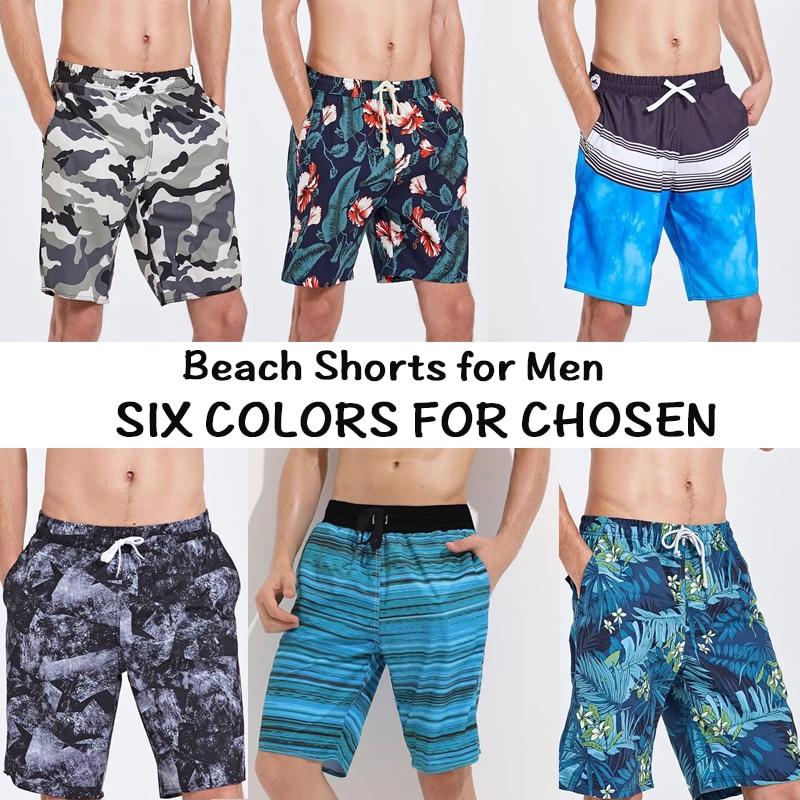 Shorts Fast-Dry Swimwear Polyester Beach Summer Plus-Size Men L-3XL Six-Colors Air