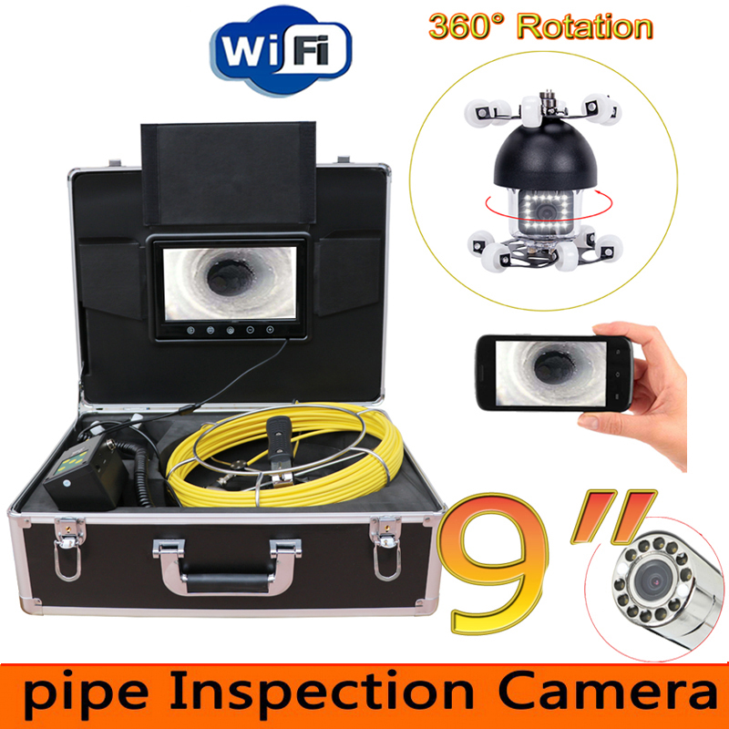 9 360 Rotation degree WiFi Pipe Inspection Video Camera,Drain Sewer Pipeline Industrial Endoscope support Android/IOS phone9 360 Rotation degree WiFi Pipe Inspection Video Camera,Drain Sewer Pipeline Industrial Endoscope support Android/IOS phone