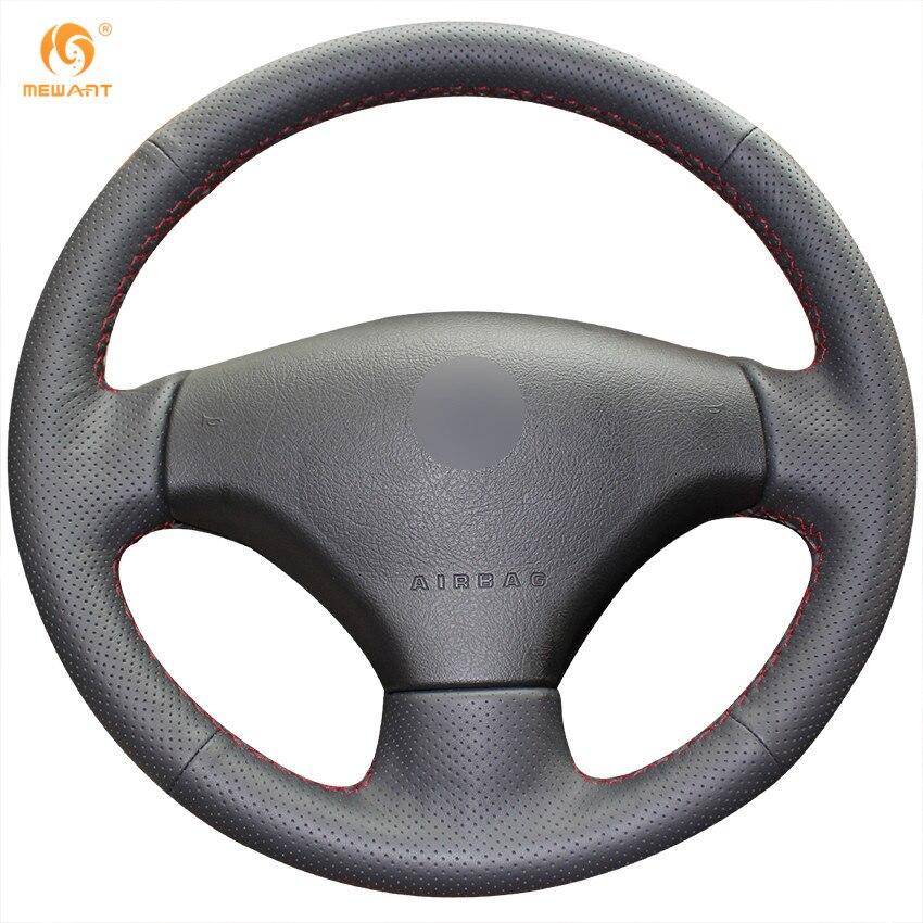 Prix pour Mewant Noir Artificielle En Cuir Couverture De Volant de Voiture pour Peugeot 206 2007-2009 Peugeot 207 Citroen C2