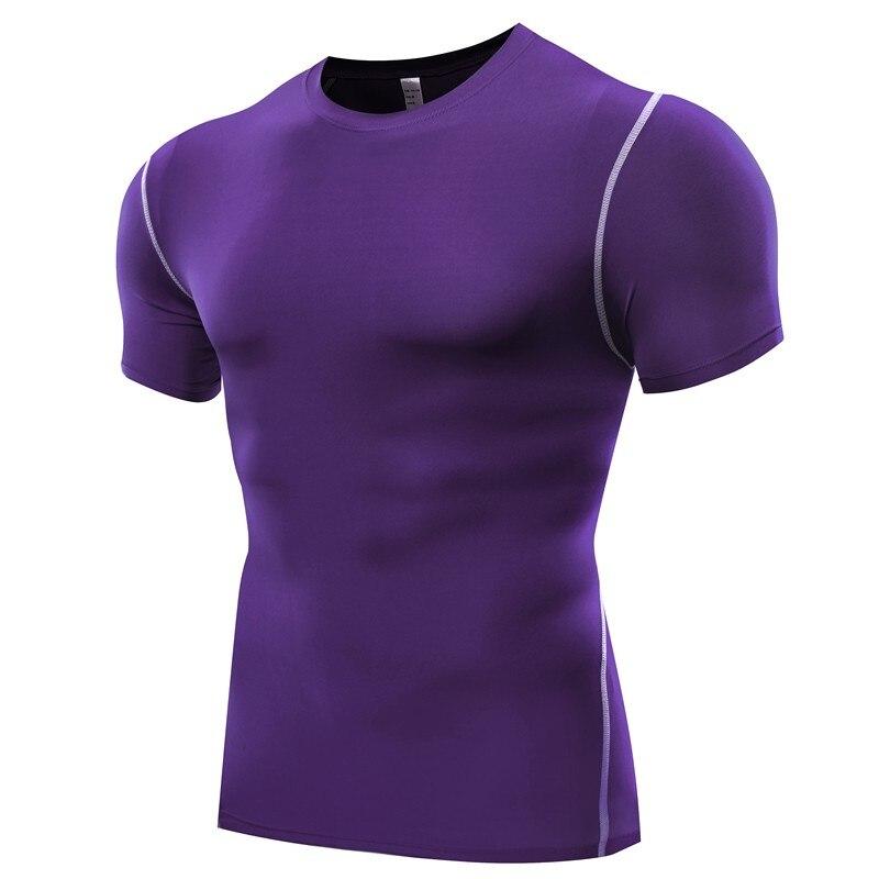 T-shirts Sommer Laufschuhe Hemd Männer Quick Dry Kurzarm T-shirt Atmungsaktiv Rashgard Mann Fitness Strumpfhosen Muscle Brother Kompression Tops