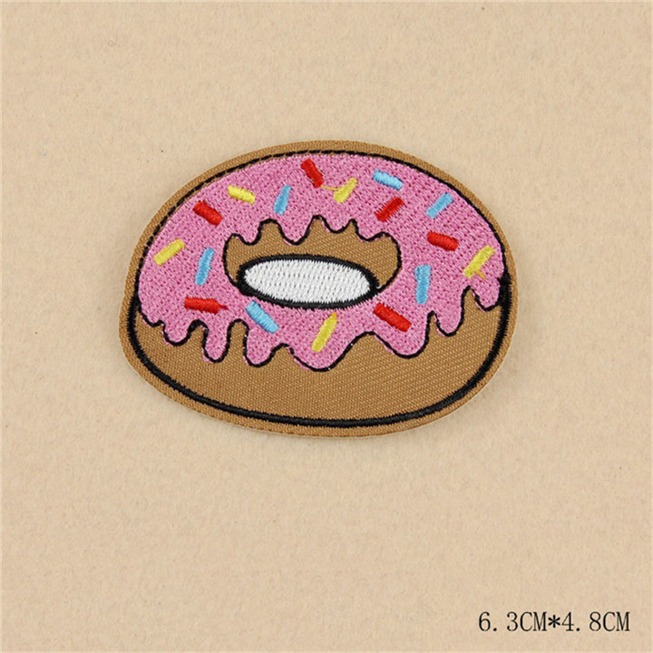 5 8pcs Iron On Food Embroidery Patches For Clothing Bag Shirt Phone Shell Patch Badges Stickers Custom Cute Patches Applique TB004