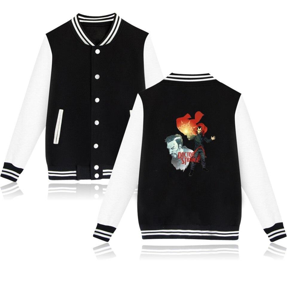 Doctor Strange Fashion Baseball font b Jacket b font font b Women b font Sweatshirts Winter