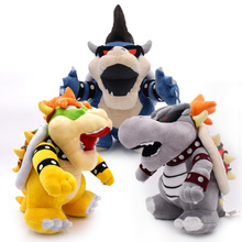 3 pcs/lot Anime Super Mario Bros 3D Land Bone Kuba Dragon Dark Bowser Koopa Peluche Doll Plush Soft Stuffed Toy Dry Bones