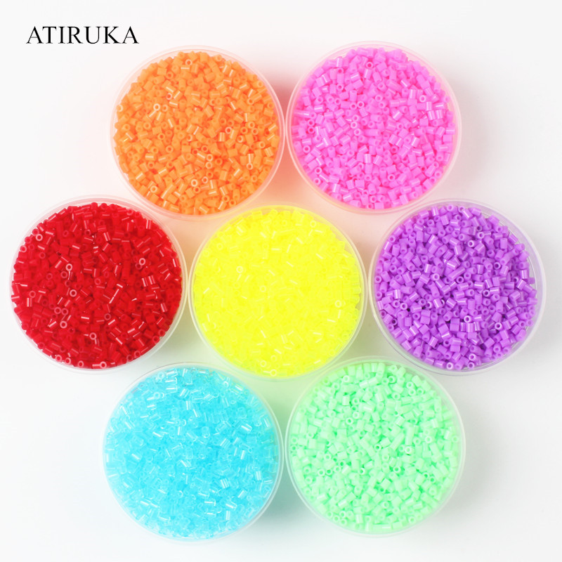 500Pcs//Bag 2.6mm Mini Hama Beads Perler Beads Kids DIY Educational Toy IJ